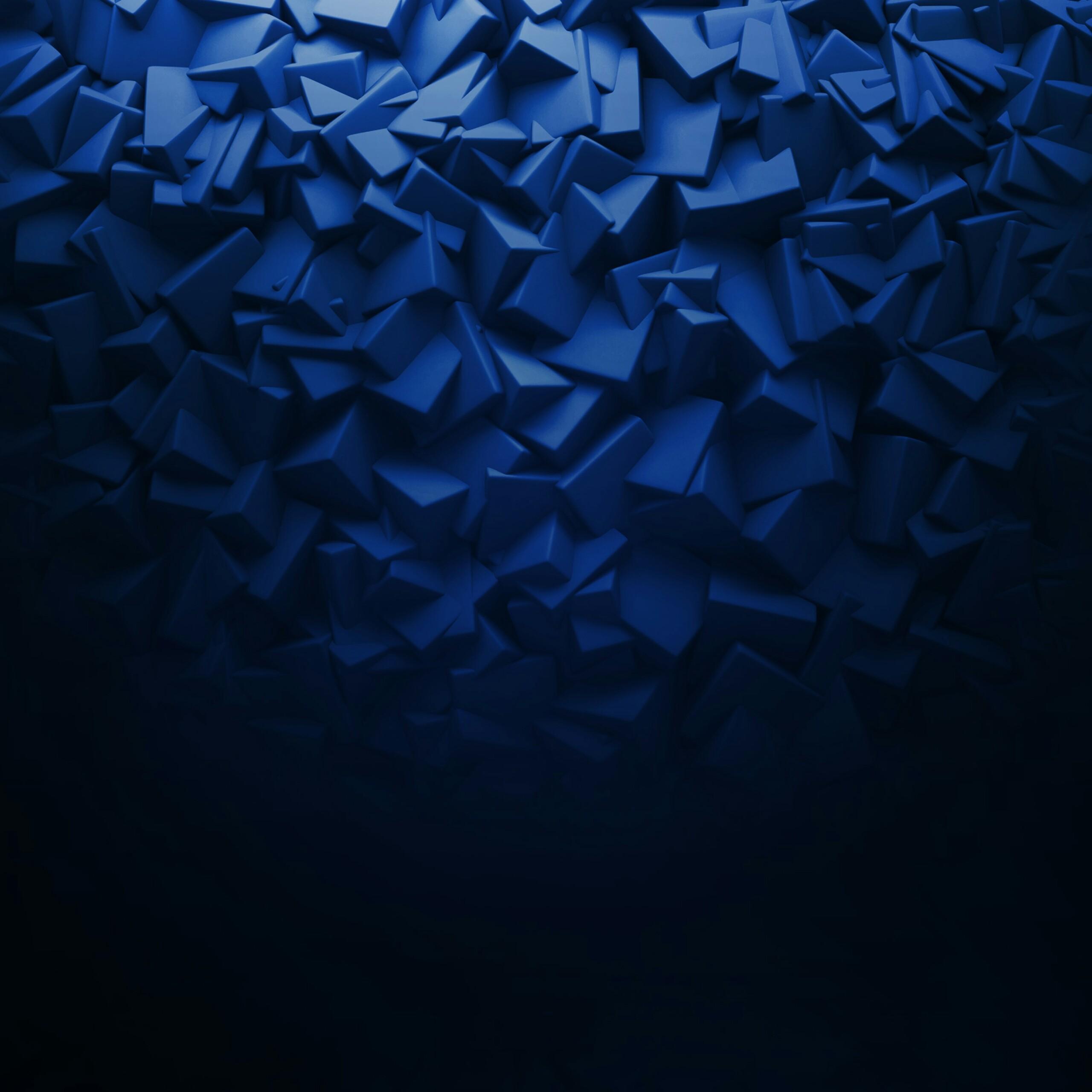 3D Blue Abstract Qhd Full HD Wallpaper