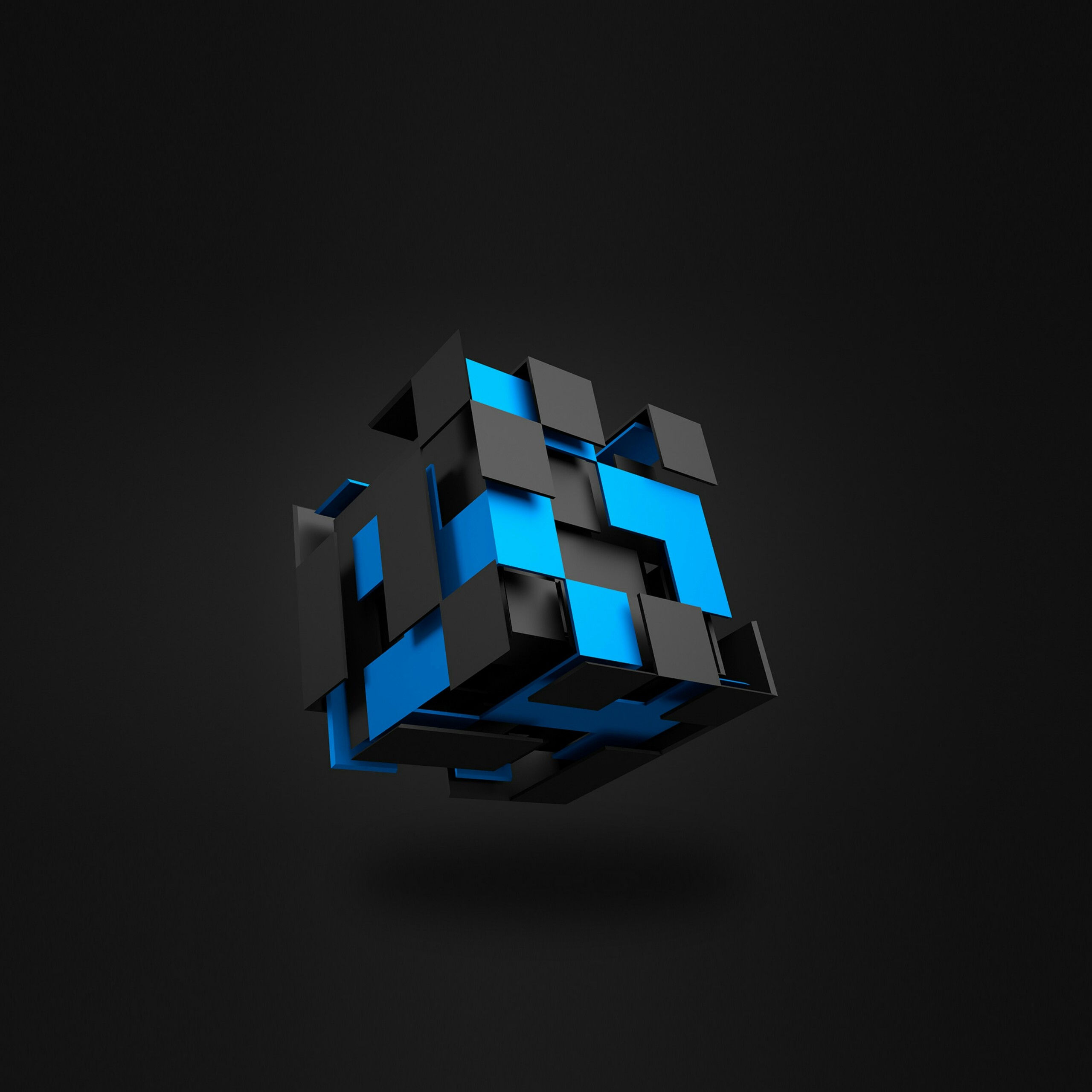 Black And Blue Cool 3D Wallpapers