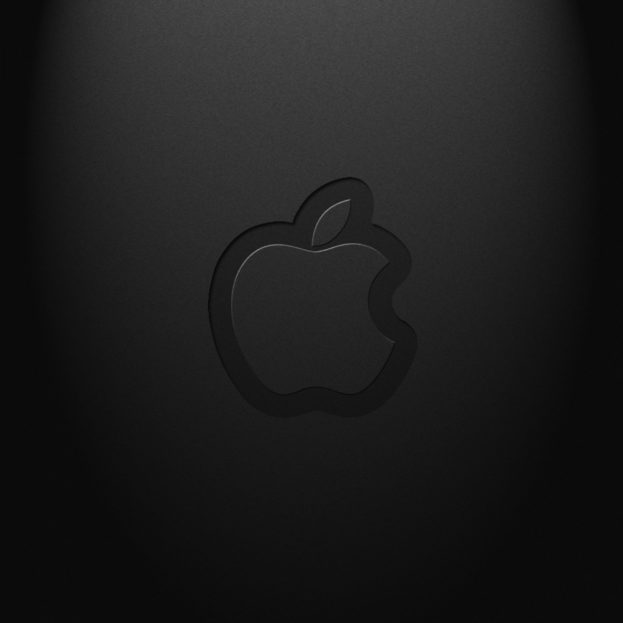 Black Apple Logo Abstract Background