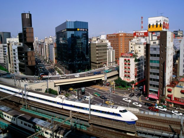 Bullet Train, Ginza District, Tokyo, Japan HD+1600x900, UXGA 1600x1200 - HD Wallpapers Backgrounds Desktop, iphone & Android Free Download