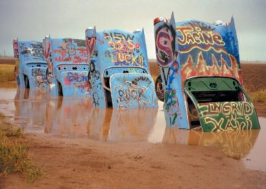 Cadillac Ranch Sculpture, West Of Amarillo, Texas HD+1600x900, UXGA 1600x1200 - HD Wallpapers Backgrounds Desktop, iphone & Android Free Download