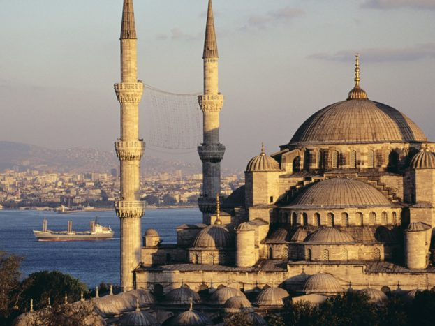 Blue Mosque And The Bosphorus, Istanbul, Turkey HD+1600x900, UXGA 1600x1200 - HD Wallpapers Backgrounds Desktop, iphone & Android Free Download